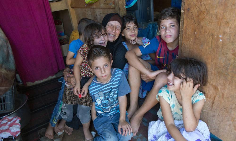 Durch die Hilfe von Islamic Relief werden die Sorgen der Familie etwas gelindert.